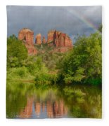 Cathedral Rock Rainbow Fleece Blanket
