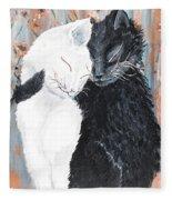 Cats  In Love Fleece Blanket