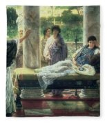 Catullus Reading His Poems Fleece Blanket
