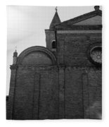 Cesena - Italy - The Cathedral  Fleece Blanket