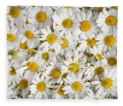 Chamomile Flowers Fleece Blanket