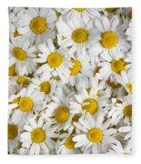 Chamomile Flowers Fleece Blanket