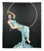 Charles Hall - Creative Arts Program - New Moon Fleece Blanket