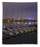 Charles River Boats Clear Water Reflection Fleece Blanket