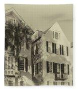 Charleston Style Houses Fleece Blanket
