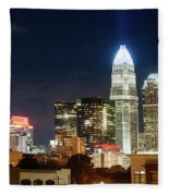 Charlotte Skylilne At Night Fleece Blanket