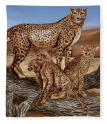 Cheetah Family Tree Fleece Blanket