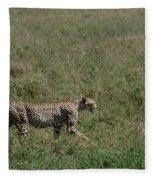 Cheetah On The Serengeti Fleece Blanket