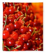 Cherry Fleece Blanket