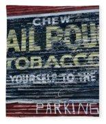 Chew Mail Pouch Tobacco Ad Fleece Blanket
