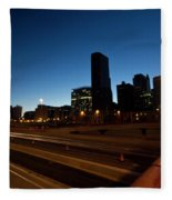 Chicago Skyline At Dawn Fleece Blanket