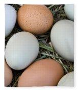 Chicken Eggs Fleece Blanket