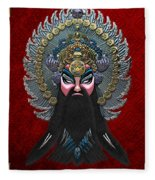 Chinese Masks - Large Masks Series - The Emperor Fleece Blanket
