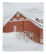 Christmas Barn Fleece Blanket
