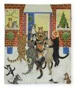 Christmas Carols Fleece Blanket