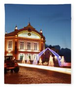 Christmas In Ribeira Grande Fleece Blanket