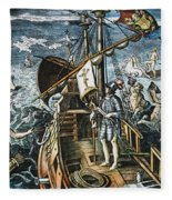 Christopher Columbus Fleece Blanket
