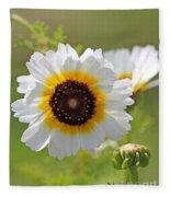 Chrysanthemum Named Polar Star Fleece Blanket