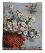 Chrysanthemums Fleece Blanket