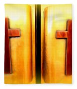 Church Doors Fleece Blanket