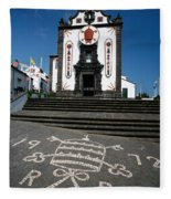 Church In The Azores Fleece Blanket