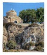 Church Of Profitis Elias - Cyprus Fleece Blanket