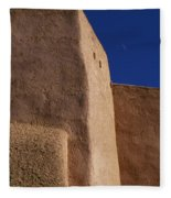 Church Taos Nm Fleece Blanket