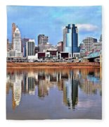 Cincinnati Reflects Fleece Blanket