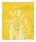 Circuit Board Graphic Fleece Blanket