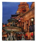 City - Vegas - Paris - Academie Nationale - Panorama Fleece Blanket