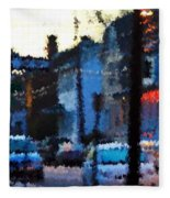 City As A Painting Fleece Blanket