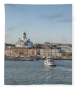 City By The Sea Fleece Blanket