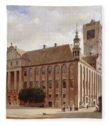 City Hall At Thorn Fleece Blanket