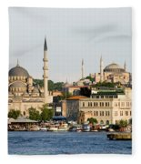 City Of Istanbul Fleece Blanket