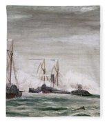 Civil War: Naval Battle Fleece Blanket
