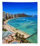 Classic Waikiki Fleece Blanket