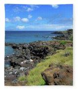 Clear Blue Ocean Fleece Blanket