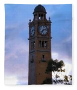 Clock Tower Fleece Blanket