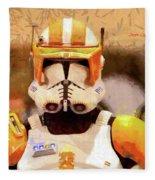Clone Trooper Commander - Free Style Style Fleece Blanket