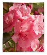 Close-up Of Pink Flowers In Bloom Fleece Blanket