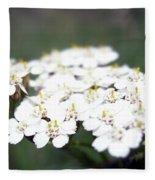 Close-ups Of A White Meadow Flower Fleece Blanket