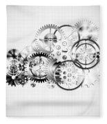 Cloud Made By Gears Wheels  Fleece Blanket