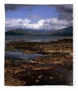 Cloud Passing Across The Cuillin Main Ridge And Bla Bheinn From Tokavaig Sleat Isle Of Skye Scotland Fleece Blanket