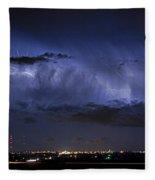 Cloud To Cloud Lightning Boulder County Colorado Fleece Blanket