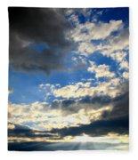 Clouded Sun Rays Fleece Blanket