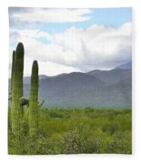 Clouds Over The Mountains Fleece Blanket