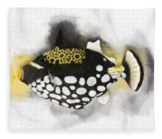Clown Triggerfish No 01 Fleece Blanket