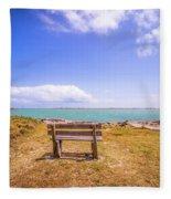 Coastal Landscape Near Padre Island Texas Fleece Blanket