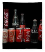 Coke From Around The World Fleece Blanket