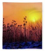 Cold Silence Fleece Blanket
